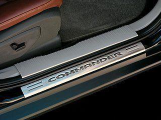 Jeep Commander Door Entry Guard Stainless steel, with Commander logo. Set of four (front & rear doors). For Jeep Commander 2006 - 2010. Authentic Mopar Accessory. #Mopar #AutomotivePartsAndAccessories