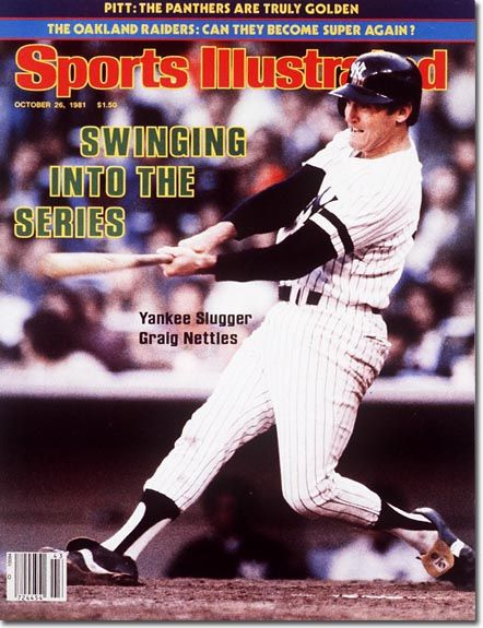 October 26, 1981 - The 1981 World Series.  Graig Nettles, New York Yankees.