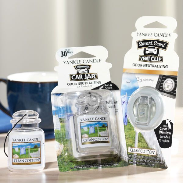Yankee Candle – vonný clip do ventilace Clean Cotton