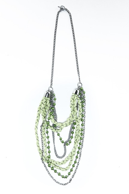 Naida Lime Necklace by Kitty Kitz