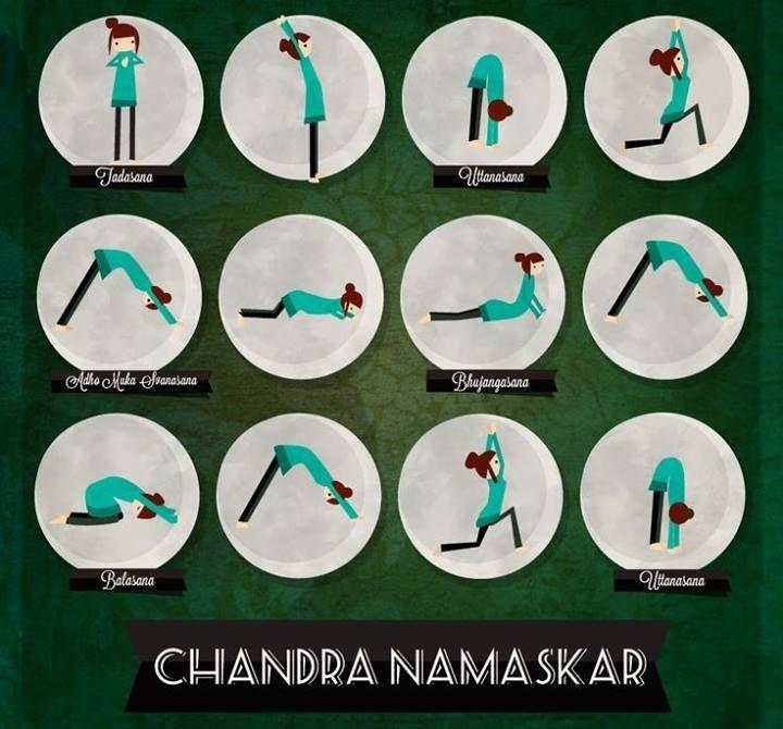 Chandra Namaskar - Saludo a la Luna #Yoga A conectarse con el alma...