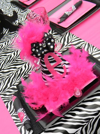 "Photo 1 of 12: Hot Pink and Zebra Print / Birthday ""Pink Divalishious Party"" 