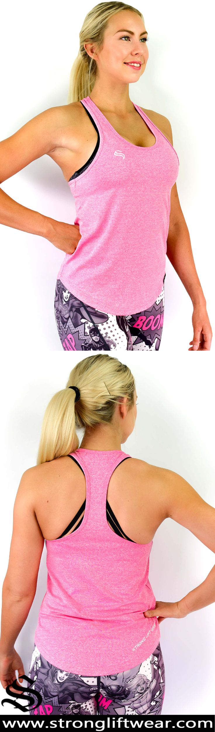 FreeFlex Racerback - Pink │gym wear │fitness wear │fitness clothing │fitness │outfits │workout dress │gym outfits │workout outfits │singlets │pants #gymwear #fitnesswear #fitnessclothing #fitness #outfits #workoutdress #gymoutfits #workoutoutfits #singlets #pants