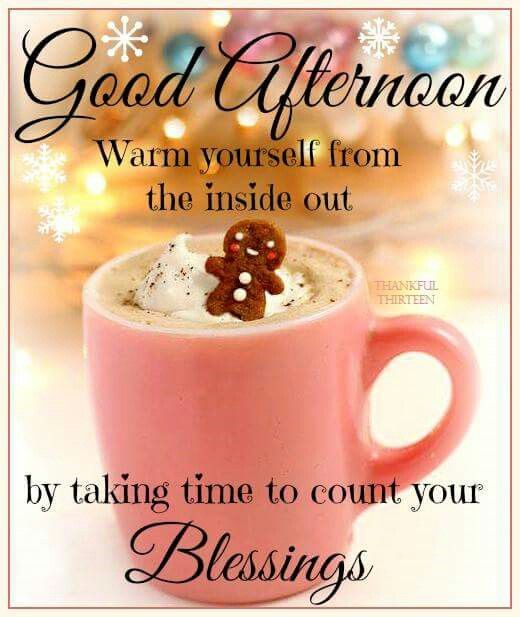 Good afternoon warm yourself...