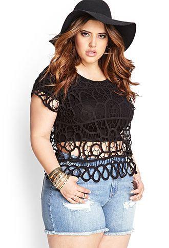 Sheer Crochet Top | FOREVER21 PLUS - 2000069731My love for this top is endless