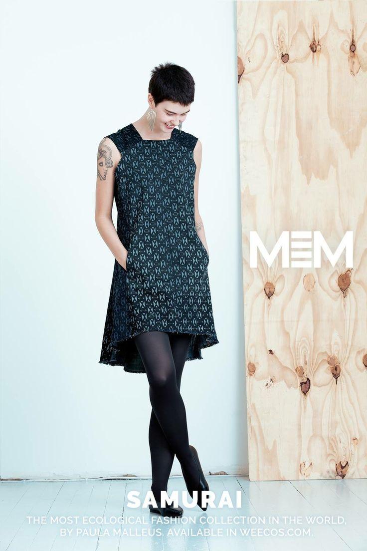 Pure postconsumer denim design MEM samurai 2017 Nobasa tunic dress