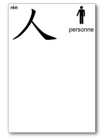 Caractère chinois Personne