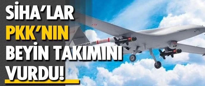 """SİHA'lar, sadece son 1 ayda 61 PKK'lıyı etkisiz hale getirdi. SİHA'lar son 1 yılda ise örgütün """"beyin takımında"""" yer alan 21 haini vurdu."""