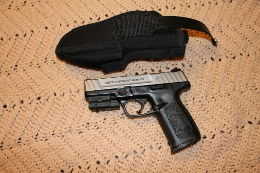 S and W sd40ve 40 cal with laser. Great shooter in my get home gear.