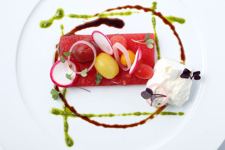 Grilled Watermelon Salad And Pickled Radishes Recipe — Dishmaps