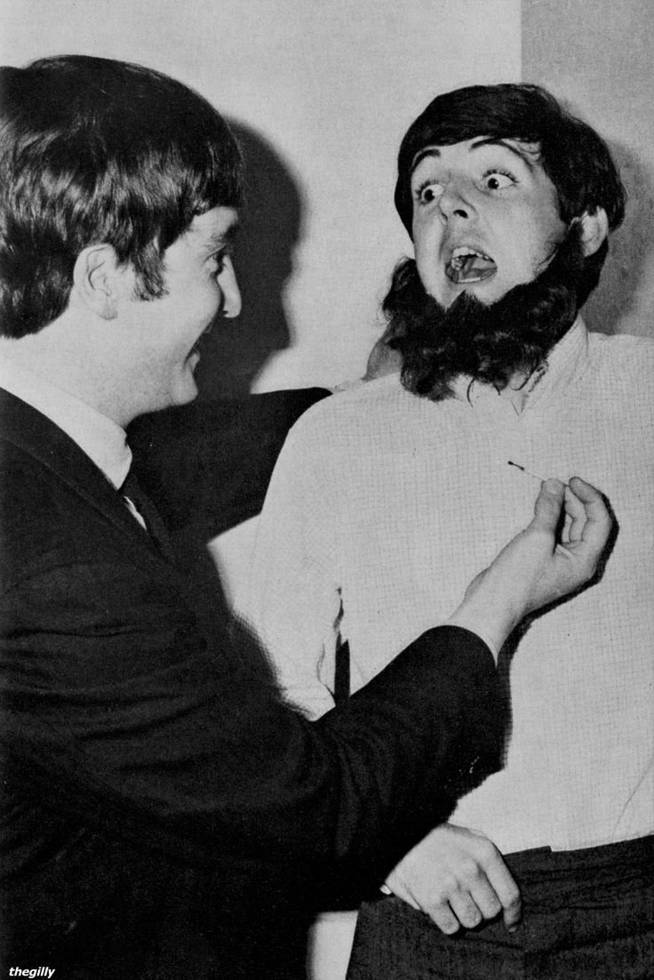 I'm slightly worried about the match in John's hand here.Scanned from Beatles Book Monthly No. 6 (January 1964 issue).