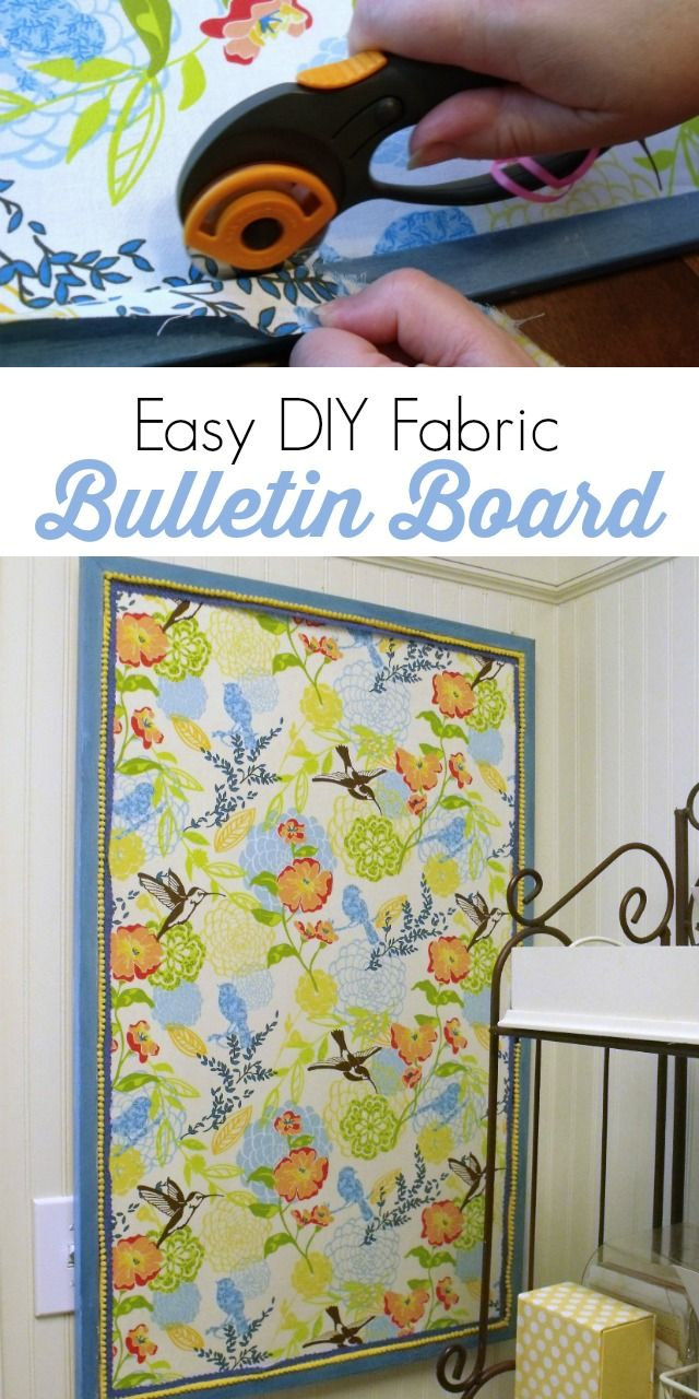 Fabric bulletin boards can be expensive, but you can easily and inexpensively make one of your own using this tutorial.
