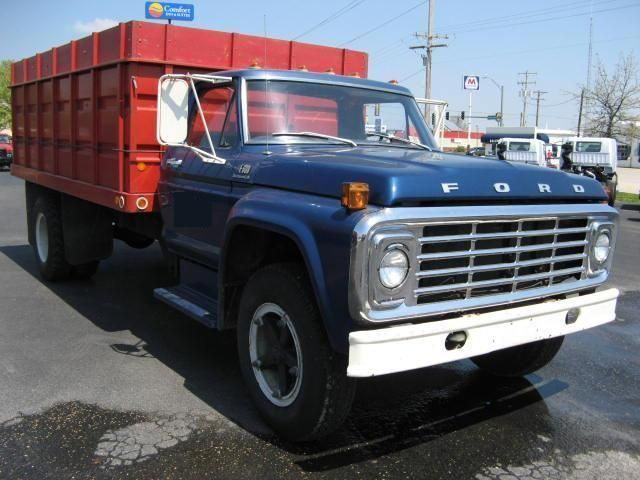 ford grain trucks used ford f600 medium duty farm grain truck for sale in illinois salem. Black Bedroom Furniture Sets. Home Design Ideas