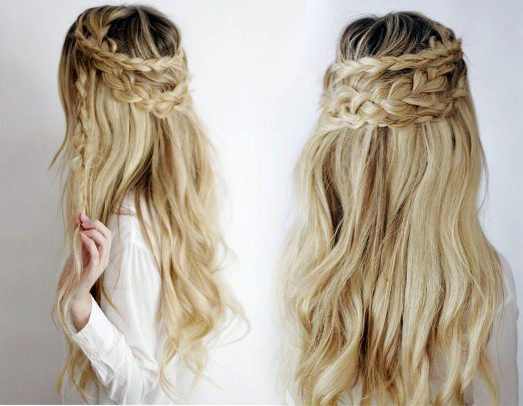 nice Красивые прически на длинные густые волосы (50 фото) — Простые идеи для пышных кос