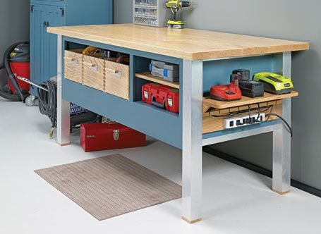 With a large worksurface and plenty of storage, this bench is sure to be the center of attention.