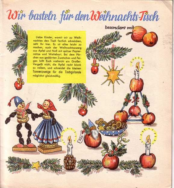 Die Bunte Kiste Adventsheft mit Adventskalender Himmelsleiter 1952 www.eichwaelder.de