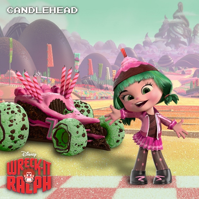 WRECKIT RALPH (Pictured) Candlehead of the video game