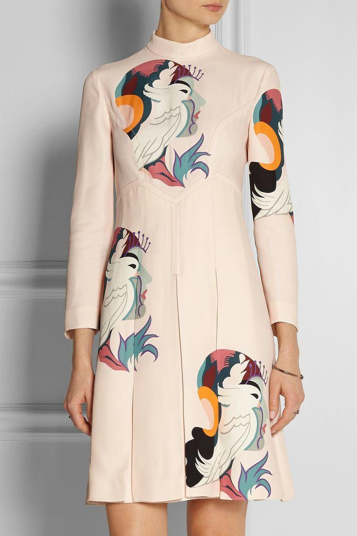Miu Miu | Printed cady dress | NET-A-PORTER.COM