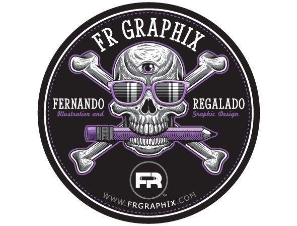 Self Promotional Stickers by Fernando Regalado, via Behance