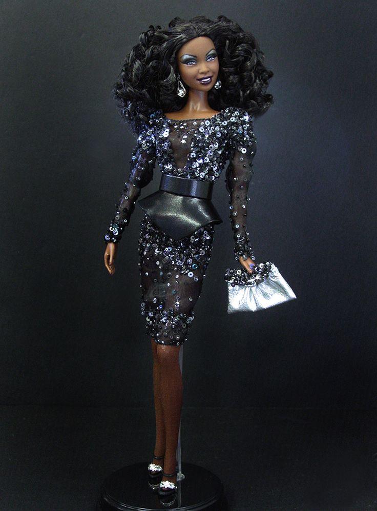 ooak black barbies   OOAK Barbie NiniMomo's Barbie Basics Doll