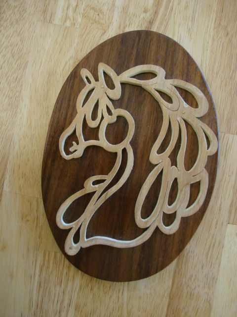 #horse #woodplaque Handmade birch horse silhouette on reclaimed walnut by zzbob, $19.00 https://www.etsy.com/listing/27380823/handmade-birch-horse-silhouette-on?ref=shop_home_active