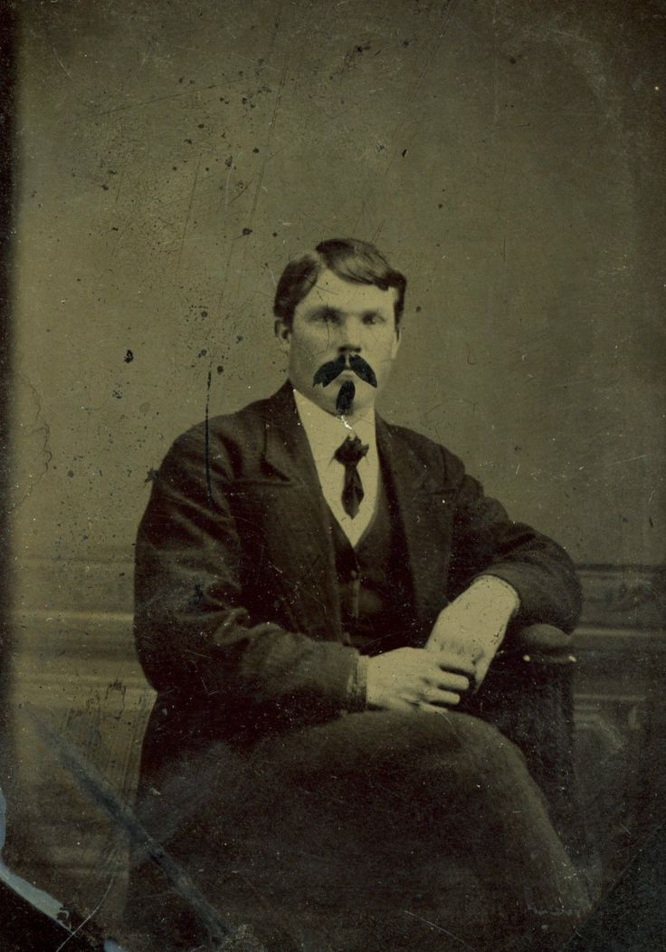 Tintype Photo Well Dressed Man Mustache and Goatee Added | eBay