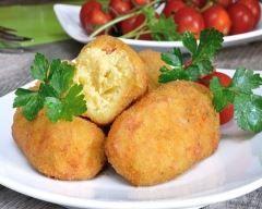 Croquettes de pommes de terre aux amandes effil�es
