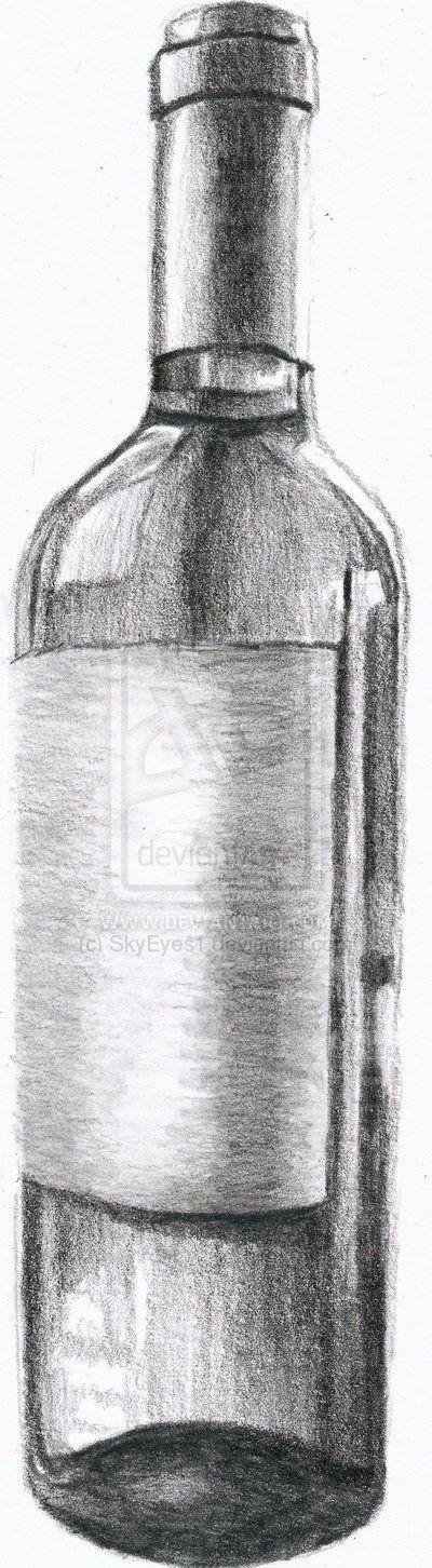 wine bottle drawing - Google Search | Wine bottle drawing ...