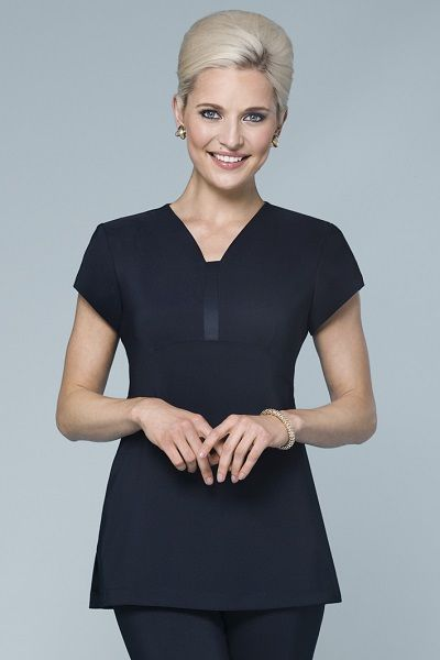 Empire-Line Tunic with Satin Insert and Tie-Back $41.74