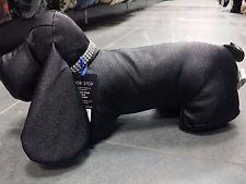 Новинка Черный И Серебряный Искусственной Кожи Ткань Двери Остановить Собаку Взвешенный Затвор Животных