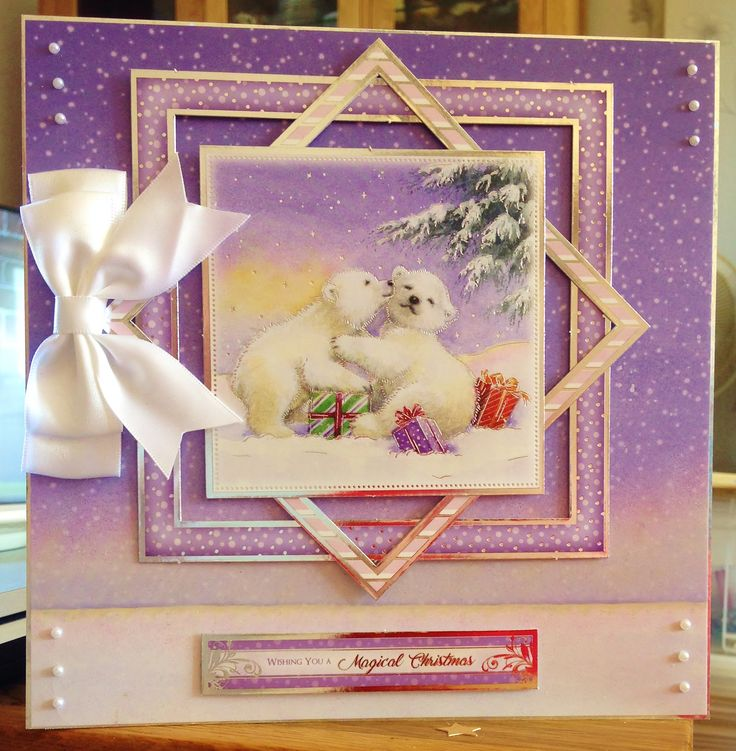 "Christmas Card (98) - 8""x8""- Makings from Hunkydory"