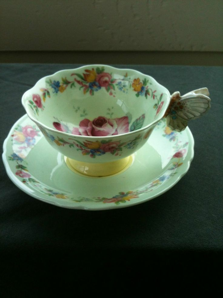 Paragon Butterfly Handle Tea Cup