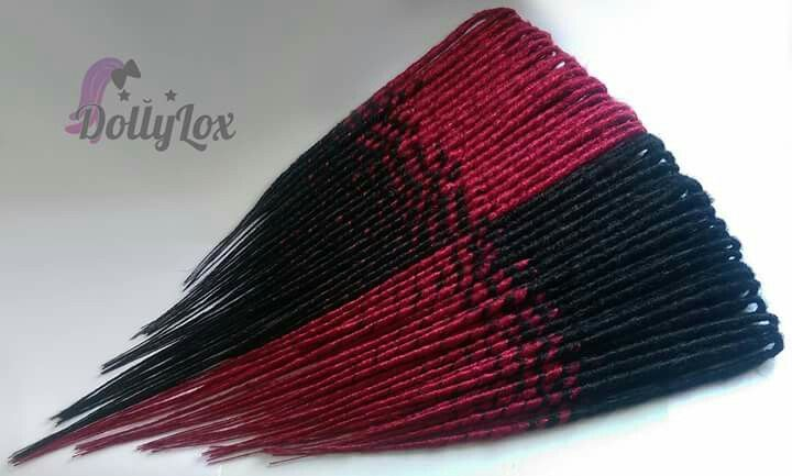 Dolly Lox custom smooth red and black double ended synthetic transitionals