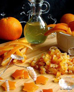 skórka pomarańczowa, bakalie, dodatki do ciast, skórka kandyzowana, skórka smażona w cukrze, pomarańcze, smaczna pyza, blog kulinarny, dodatki cukiernicze, domowe przetwory