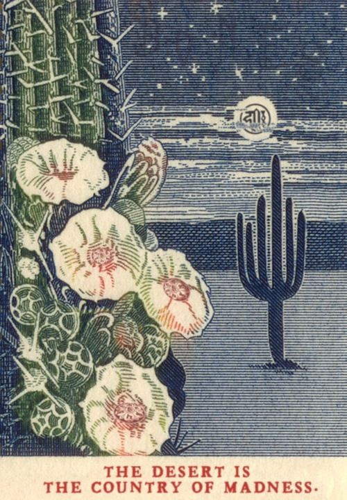 cactus flowers god is the desert – charles bonesy jones' 23 stamp detournements