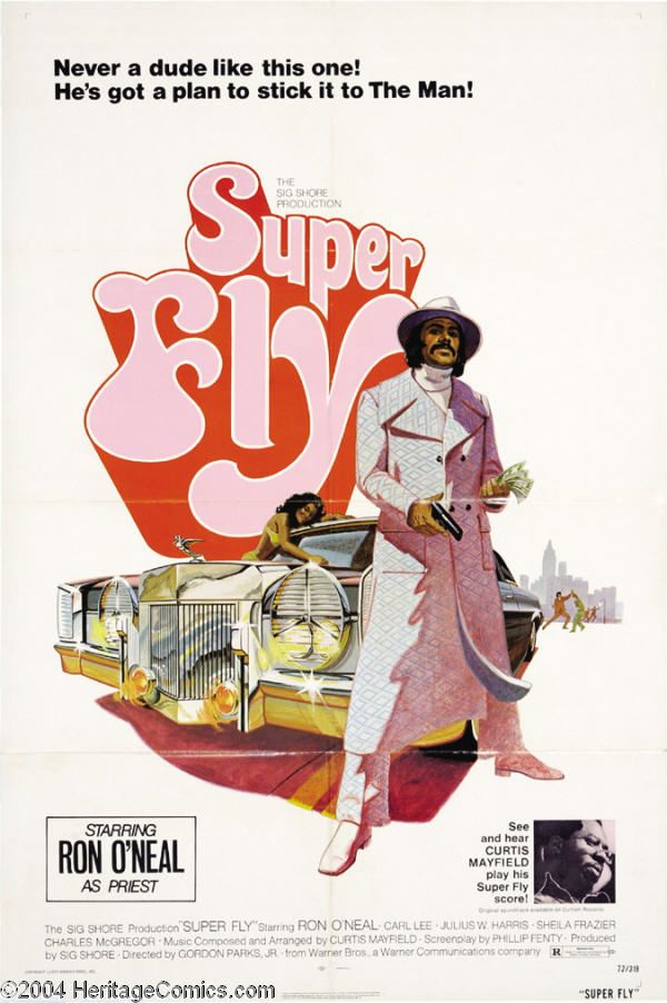 Super Fly is a 1972 blaxploitation film directed by Gordon Parks, Jr., and stars Ron O'Neal as Youngblood Priest, a black cocaine dealer who is trying to quit the underworld drug business. Th…