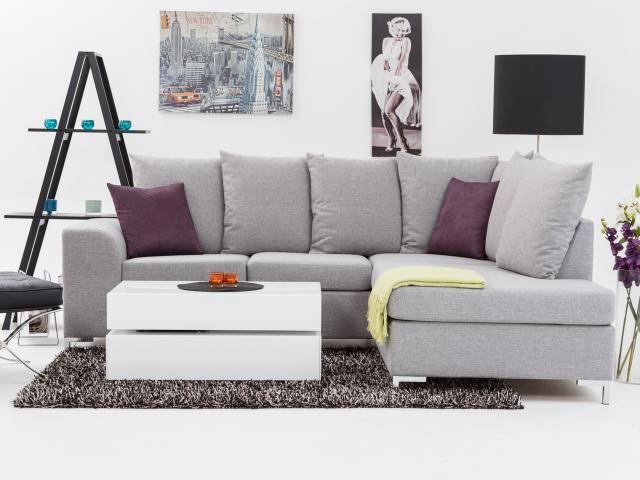 MOON 4-Sits Soffa öppet slut höger Ljusgrå i gruppen Inomhus / Soffor / Divan- & hörnsoffor hos Furniturebox (110-50-22541)