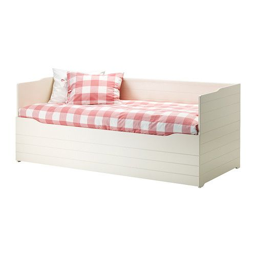 BYGLAND Daybed frame IKEA Four functions in one - seating, bed for one, bed for two and a large storage space.