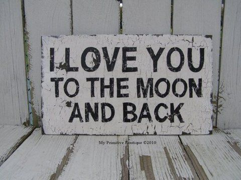 I love you to the moon and back- kids room.
