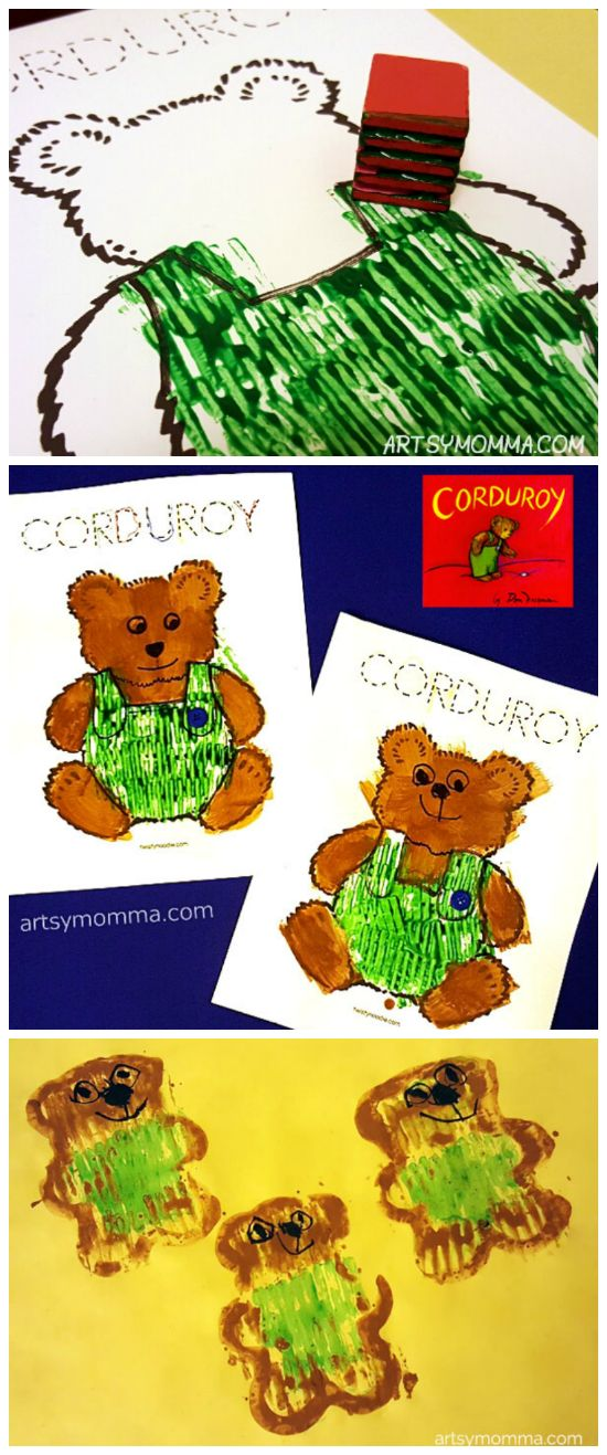 Corduroy Crafts & Activities - Kids Book Extension Idea