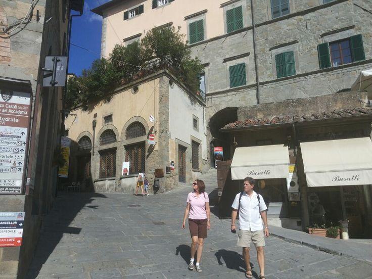 la strada a Cortona