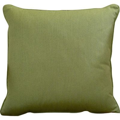 "Wayfair Custom Outdoor Cushions Outdoor Sunbrella Throw Pillow Width: 16"", Height: 16"", Color: Spectrum Cilantro"