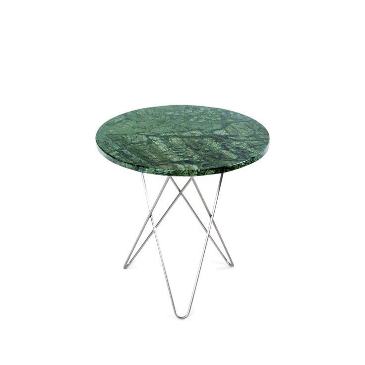 Tall Mini O Table soffbord - Tall Mini O Table soffbord - grön marmor, rostfritt stativ