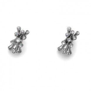 Earring Coral rhod. crystal #OliverWeber