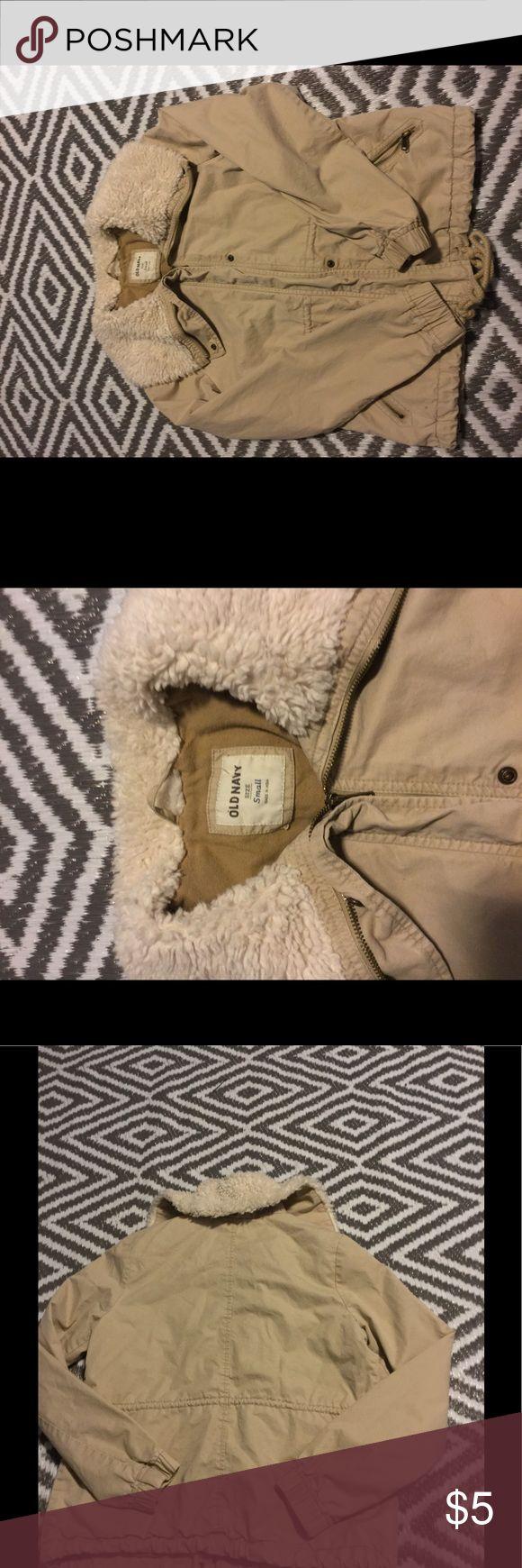 Women's size small beige jacket Women's sz small Old Navy zip up jacket Old Navy Jackets & Coats