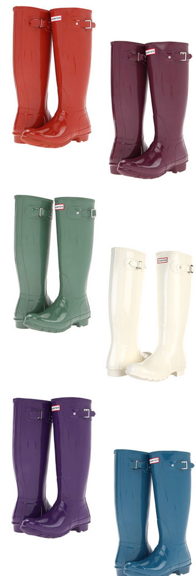 Hunter Original Wellington boots: i'll take a pair in each color, please! SIZE 8