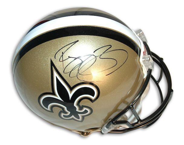 Autographed Reggie Bush New Orleans Saints Proline Helmet