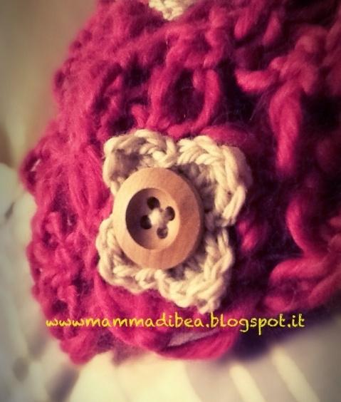 mamma di b.e.a. Scaldacollo traforato crochet, ovvero il premio per il II Compliblog di Mamma di B.E.A.