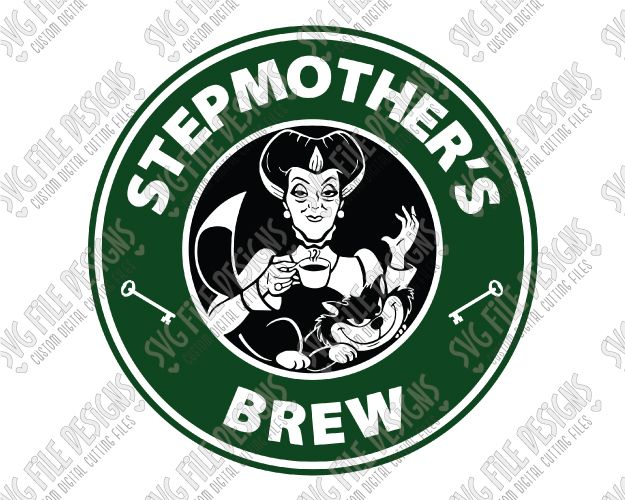 Stepmother's Brew Starbucks Logo Cut File Set in SVG, EPS, DXF, JPEG, and PNG