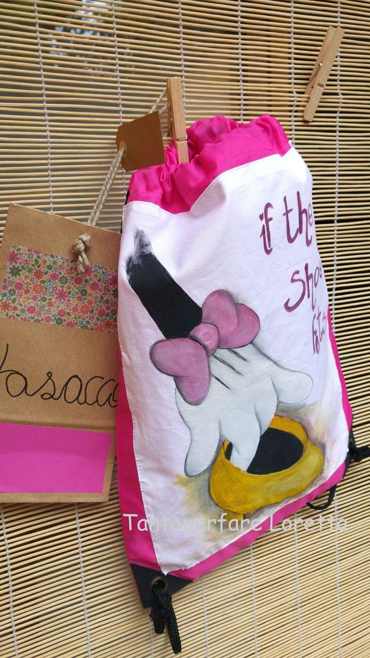 La Sacca - zaino tracolla dipinta a mano Disney : Zainetti, cartelle di tantoperfare-loretta